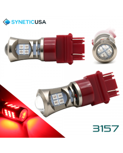 2X 3157 LED High Power 3030 Red Turn Signal Tail Brake Light Bulbs