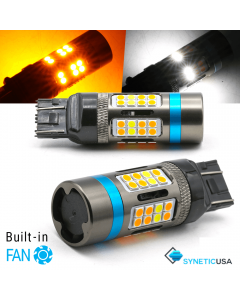 All-In-1 CANBUS Error Free 7443 (Standard/CK) LED Type 1 Switchback Bulbs