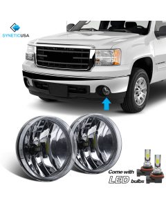 2007-2013 GMC Sierra Smoked Lens Bumper LED Fog Light Lamps OE Replacement DOT