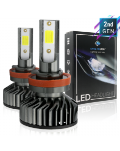 H11/H9/H8 COB LED White Headlight Conversion Kit High/Low Beam Fog Light 5000lm