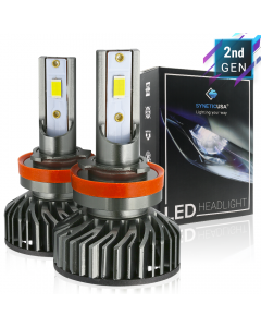 H11/H9/H8 CREE LED White Headlight Kit High/Low Beam Light Bulbs High Power CSP 6000lm