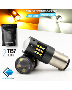 1157 2016-Chip 33-LED Dual Color Switchback LED bulbs