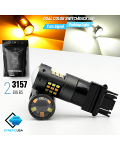 3157 2016-Chip 33-LED Dual Color Switchback LED bulbs