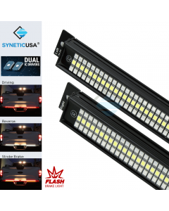 """60"""" Solid Beam LED Tailgate Light Bar Red Sequential Turn Signal + Flash Strobe Brake"""
