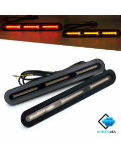 2x Universal Car Truck LED Rear Windshield 3rd Brake Turn Signal Light Strip