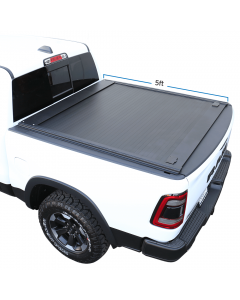 2019-2021 Ford Ranger 5ft Bed Aluminum Retractable Roll-up Hard Tonneau Cover