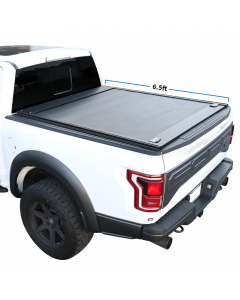 2004-2020 Ford F-150 6.5ft Bed Aluminum Retractable-Roll-up Hard Tonneau Cover