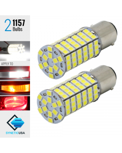 2X 1157 40W High Power 6000K White 120SMD LED Turn Signal Brake DRL Light