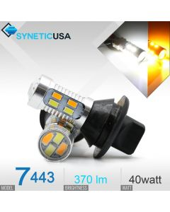 7443/7440 Super Bright 20-SMD Dual Color Switchback LED Bulbs With Load Resistor Version 1