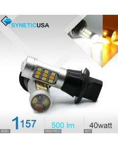 1157/2357 Super Bright 33-SMD Dual Color Switchback LED Bulbs With Load Resistor Version 1