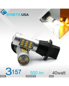 3157/3156 Super Bright 33-SMD Dual Color Switchback LED Bulbs With Load Resistor Version 1