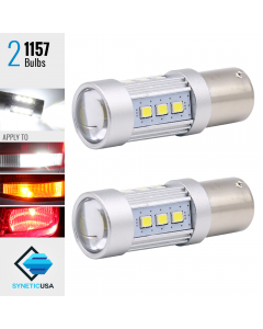 1157 2835 1400 Lumen Extreme High Power Xenon White 6000K LED bulbs