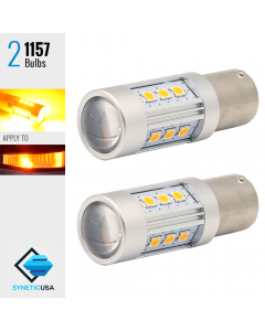 1157 2835 900 Lumen Extreme High Power Amber Yellow LED bulbs