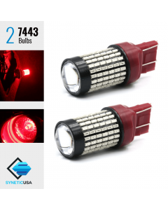 2X 7443/7440 50W Red LED Rear Brake Stop High Power Tail Parking Light Bulbs