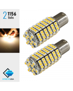 1156 Super Bright 120-SMD Warm White LED bulbs