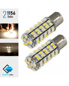 1156 Super Bright 68-SMD Warm White LED bulbs