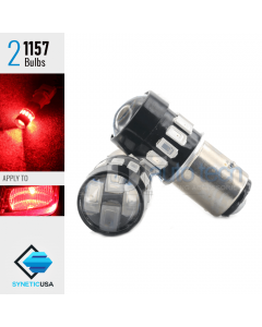 2X BAY15D 1157 40W Red LED Rear Brake Stop High Power Tail Lamp Light Bulbs