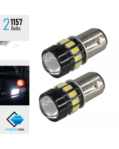 2X 1157 Projector High Power 5630 LED White Turn Signal Reverse DRL Light Bulbs