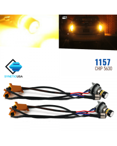 Error Free 1157 High Power 5630 Chip LED Amber Yellow Turn Signal Light Bulbs