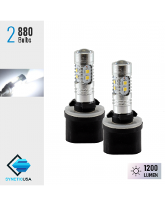 2X 880 1200LM 6000K White High Power 2323 Chip LED Projector Fog Light Bulbs