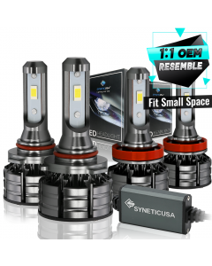 9005+H11 CREE CSP LED Headlight Combo Kit High/Low Beam Light Bulbs