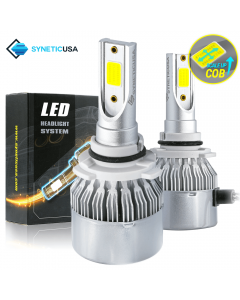 9006 COB 6000K White High Power LED All-in-One 120W Headlight Bulbs
