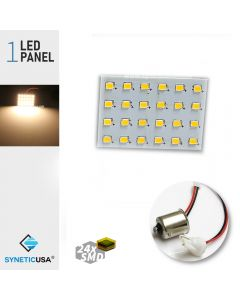 T10 / 1156 2835 LED Light Panel 24-SMD Super Bright Warm White