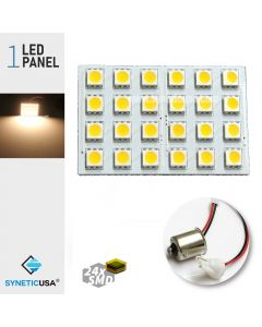 T10/1156 5050 LED Panel Super Bright 24-SMD Warm White LED Bulbs