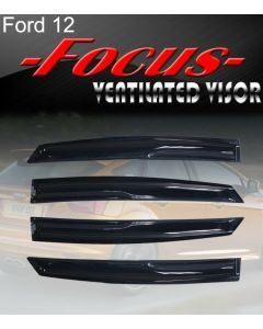 Smoke 2012-2015 Focus Window Deflectors Visor Vent Rain/Sun/Wind/Snow Guard