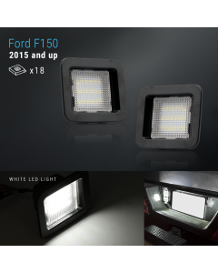 LED Bright White Tag License Plate Light Bulbs Assembly For 2015-2019 Ford F-150