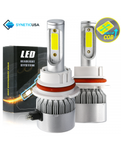 9007 HB5 LED All-in-One Headlight Bulbs 120W COB Conversion Kit