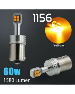 1156 CREE 1600LM Amber Yellow Turn Signal Blinker Indicator LED Light Bulbs