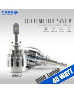 2X 880 40W CREE 6000LM 6000K White High Power Chip LED Fog Light Bulbs Lamps