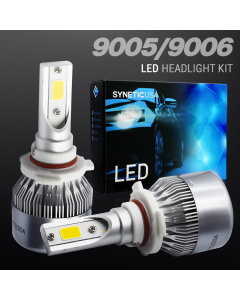 Yellow All in One 9006 100W CREE LED Fog Lamp conversion Kit Light Bulbs