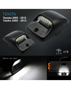 LED White Tag License Plate Light Bulbs Assembly For 2005-2015 Tacoma/Tundra