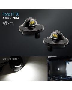 LED Bright White Tag License Plate Light Assembly For 07-14 F-150 / 99-16 F-250