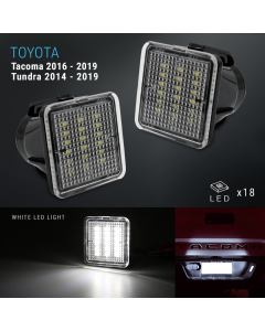 LED White Tag License Plate Light Bulbs Assembly For 2016-2019 Tacoma/Tundra