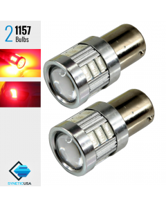 2X BAY15D 1157 40W Red LED Rear Brake Stop High Power 5630 Tail Lamp Light Bulbs Pair