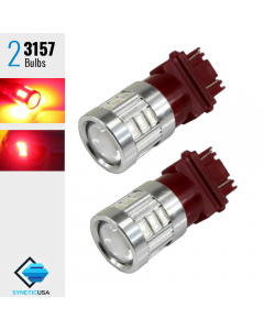 2X 3157/3156 Red Projector 5630 Chip High Power LED Brake Tail Stop Lights Bulbs