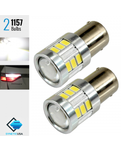 2X 1157 720 Lumen High Power 5630 LED White Turn Signal Light Bulbs Lamp
