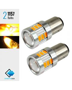 High Power 40W 1157 LED Amber Turn Signal Parking DRL 5630 Light Bulbs