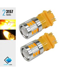 2X 40W 3157 LED Amber Yellow Turn Signal Parking DRL High Power 5630 Light Bulbs