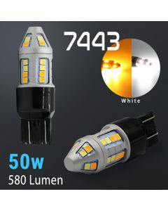 7443/7440 Super Bright 2835 HIGH POWER 30-SMD Dual Color Switchback LED Bulbs
