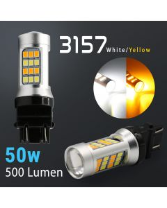 3157/3156 Super Bright 42-SMD Dual Color Switchback LED Bulbs
