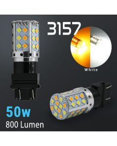 3157/3156 Super Bright 42-SMD Dual Color Type 1 Switchback LED Bulbs