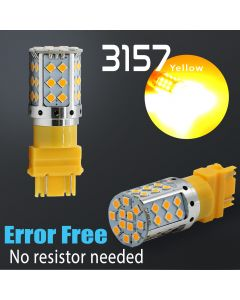 3157/3156 Super Bright 42-SMD CANBUS Error Free Turn Signal LED Bulbs