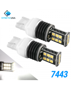 7443 1400 Lumen Extreme High Power Xenon White 6000K LED bulbs