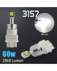 3157 / 3156 60W Cree LED Chip 2800 Lumen Extreme High Power 6000K White LED bulbs