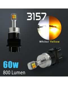 3157/3156 Super Bright CREE 60 Watt Dual Color Switchback LED Bulbs