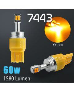 7440/7443 CREE LED Chip 1600 Lumen Extreme High Power Amber Yellow LED bulbs